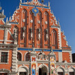 Blackhead's house in Riga, Latvia - Stock Photo