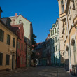 Street of old Riga. Latvia — Stock Photo