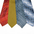 Ties are varicoloured — Stock Photo