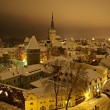 Winter Tallin at night — Stock Photo #1600945