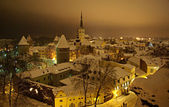 Winter Tallin at night — Stock Photo