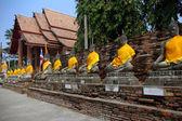 Sittande buddhor — Stockfoto