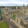 Radcliffe Camera and All Soul`s College — 图库照片