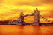 Tower Bridge on sunset — Stock Photo