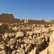 Ruins of Masada fortress - Stock Photo