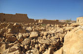 Ruins of Masada fortress — Stock Photo