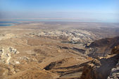 View on Dead Sea from Masada fortress — Stock Photo