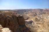 Masada fortress and Judean desert — Stock Photo