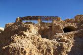 Ruins of Masada fortress — Stock Photo