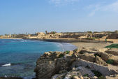 Harbor and hippodrome at Caesarea — Stock Photo