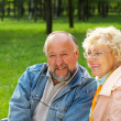 Happiness seniors — Stock Photo
