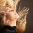 Fluttering hair — Stock Photo