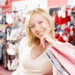 The fan of shopping — Stock Photo