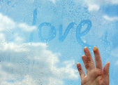 Love in clouds — Stock Photo