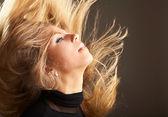 Fluttering hair — Stock Photo