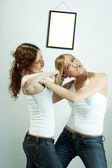 Female rivalry — Stock Photo