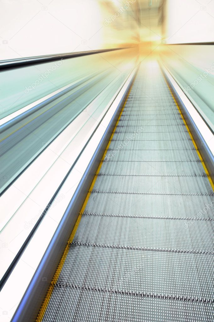 The escalator in movement (a real photo) — Stock Photo #2281242