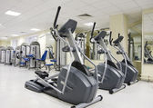 Treadmills at a health club — Stock Photo