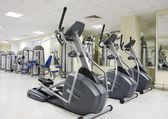 Treadmills at a health club — Stock Photo
