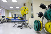 Barbell and discs — Stock Photo
