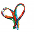 Royalty-Free Stock Photo: Heart made of colored ribbons