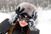 I am a winter Batman! — Stock Photo