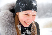 Cold winter, cold snow — Stock Photo