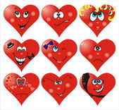 Heart Smiles to Valentine`s day — Stock Vector