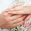 Royalty-Free Stock Photo: Hands of groom and bride