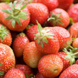 Ripe strawberries closeup — Stock Photo