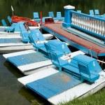 Boating station with catamaran — Stock Photo