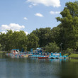 Boating station in the park — Stock Photo