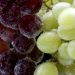 Stock Photo: Grapes on black closeup