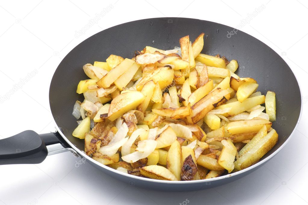 Object on white - food fried potatoes — Stock Photo #1687827