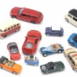Toy car on white macro — Stock Photo
