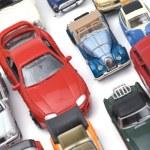 Model car on white closeup — Stock Photo