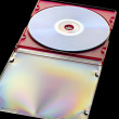 Royalty-Free Stock Photo: Dvd disc on black