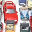 Model car on white closeup — Stock Photo