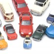 Toy car on white closeup — Stock Photo