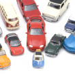 Toy car on white closeup — Stock Photo #1705021