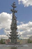 Statue Russian tsar Peter — Stock Photo