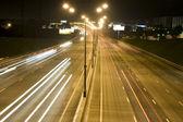 Semaforo nella notte — Foto Stock