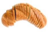 White bread on white — Stock Photo