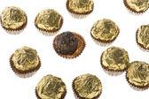 Chocolate confectionery macro — Stock Photo