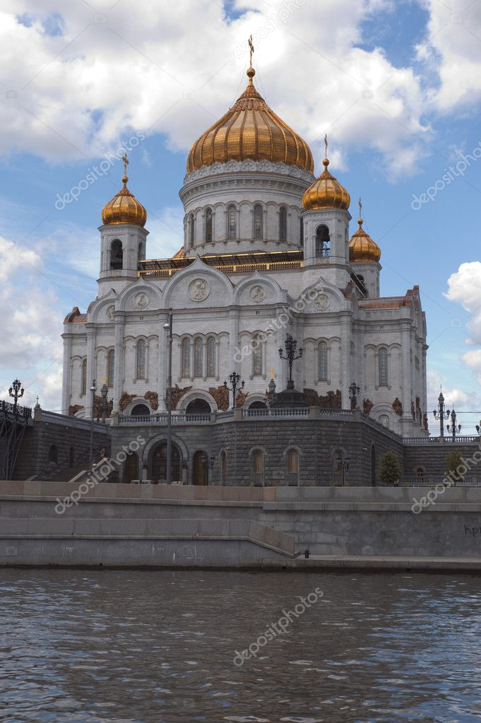 Russia Moscow - christ the savior cathedral  — Stock Photo #1700247