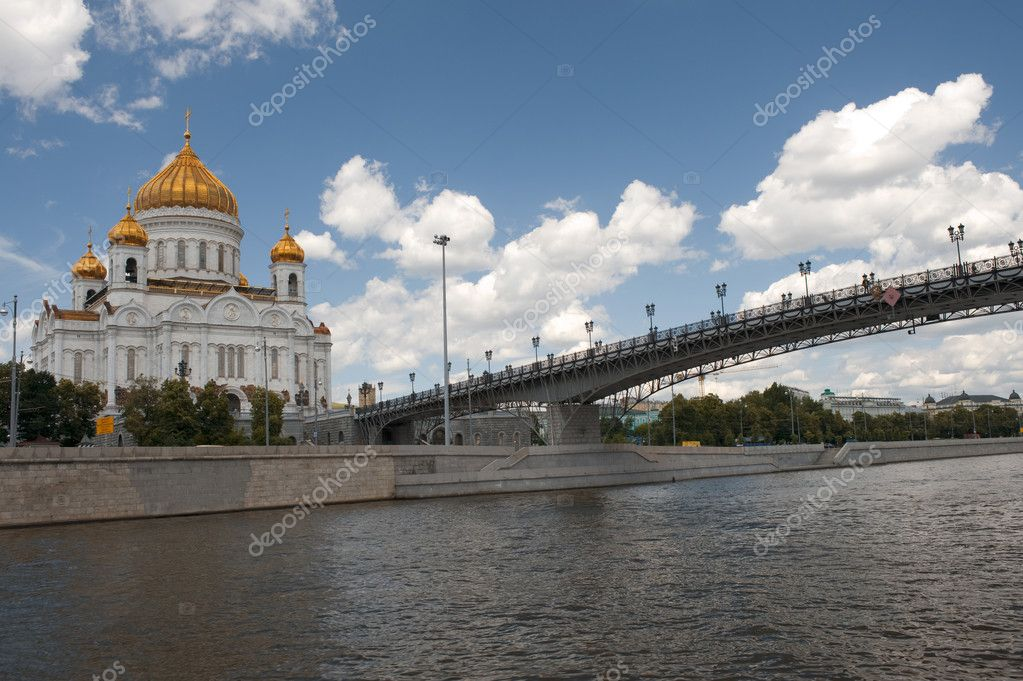 Russia Moscow - christ the savior cathedral — Stock Photo #1706668