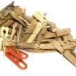 Lot of clothes-peg — Stock Photo