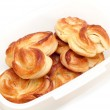 Pastry filled with custard — Stock Photo
