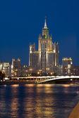 夜城市莫斯科 — 图库照片