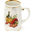 Russian beer mug — Stock Photo